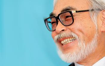 Hayao Miyazaki's Retirement Photo