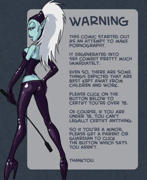 Oglaf Webcomic Adult Warning